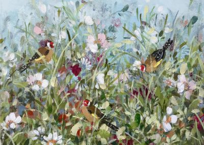 Goldfinches And Cosmos 30cm x 25cm £320