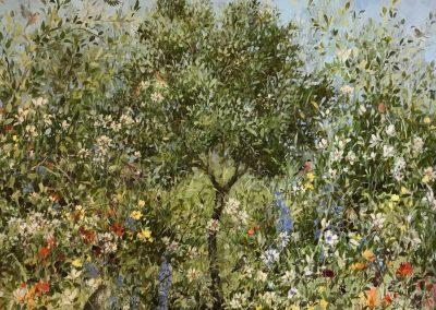 Olive Grove In Spring 100cm x 120cm £3300. Sold