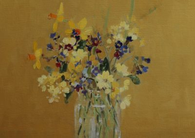Spring Flowers On Ochre 30cm sq £420