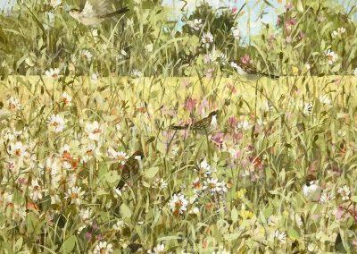 Garden Sparrows 60cm sq £900