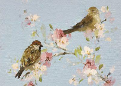 Song Birds on Blossom 20cm sq £285